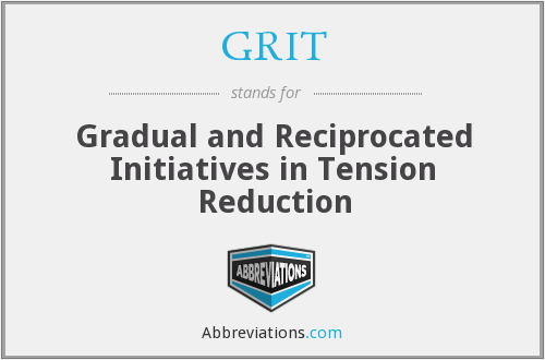 GRIT - Gradual and Reciprocated Initiatives in Tension Reduction