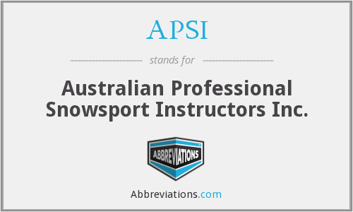 APSI - Australian Professional Snowsport Instructors Inc.