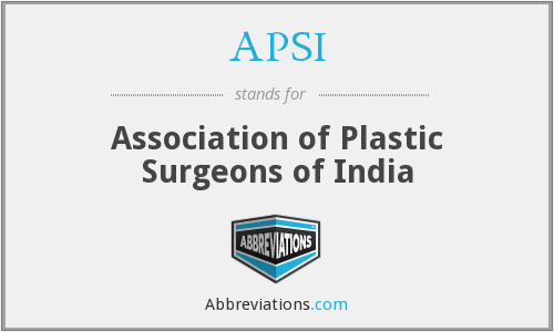 APSI - Association of Plastic Surgeons of India