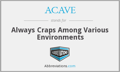 ACAVE - Always Craps Among Various Environments