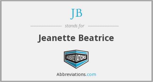 JB - Jeanette Beatrice