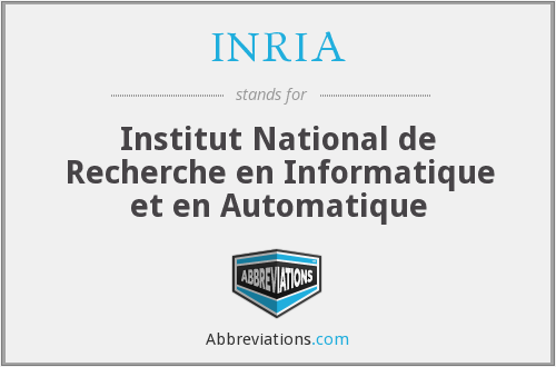 What does INRIA stand for?