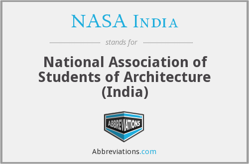 What does NASA INDIA stand for?