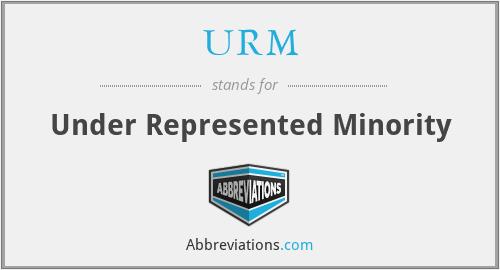 URM - Under Represented Minority