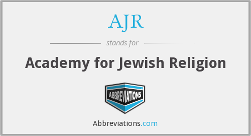 AJR - Academy for Jewish Religion