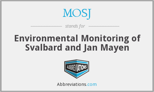 MOSJ - Environmental Monitoring of Svalbard and Jan Mayen