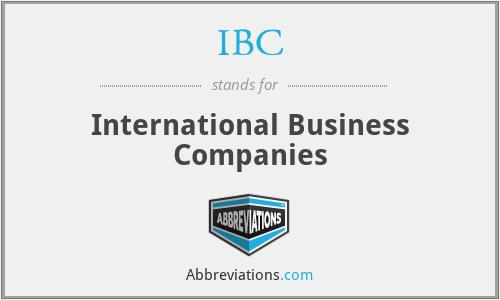 IBC - International Business Companies
