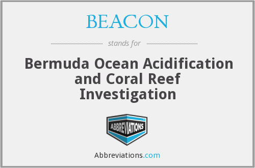 BEACON - Bermuda Ocean Acidification and Coral Reef Investigation