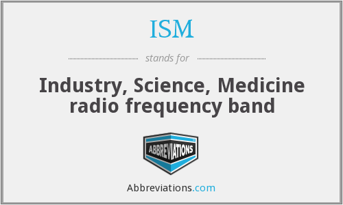 ISM - Industry, Science, Medicine radio frequency band