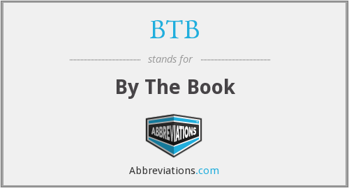BTB - By The Book
