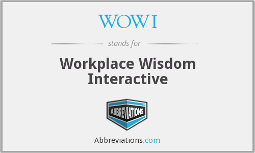 WOWI - Workplace Wisdom Interactive