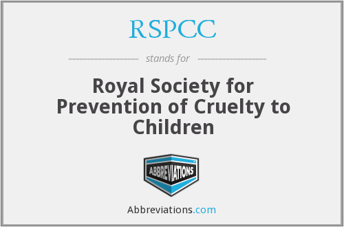 RSPCC - Royal Society for Prevention of Cruelty to Children