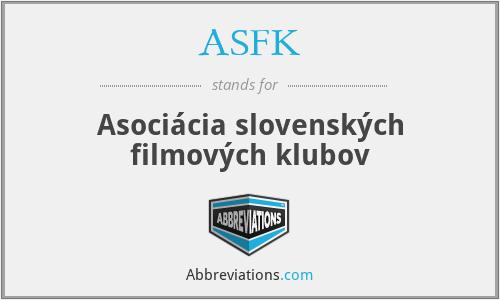 ASFK - Asociácia slovenských filmových klubov