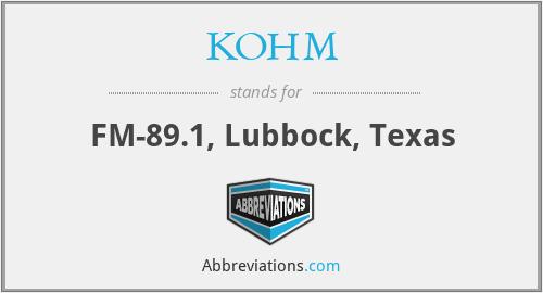 KOHM - FM-89.1, Lubbock, Texas