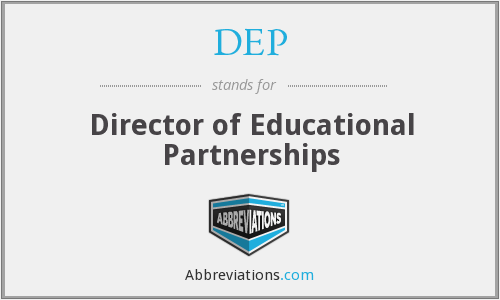DEP - Director of Educational Partnerships