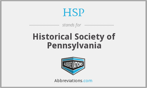 HSP - Historical Society of Pennsylvania