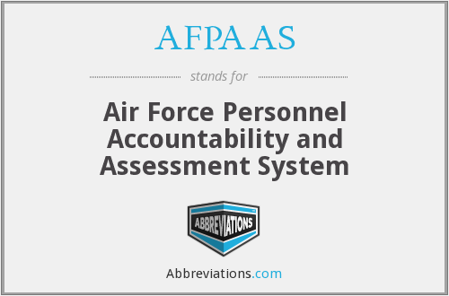 AFPAAS - Air Force Personnel Accountability and Assessment System