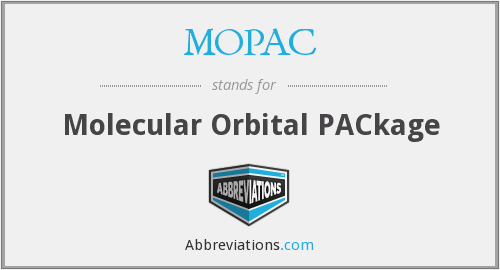 MOPAC - Molecular Orbital PACkage