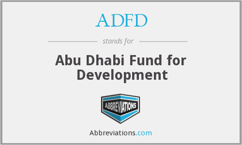 ADFD - Abu Dhabi Fund for Development