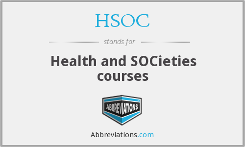 HSOC - Health and SOCieties courses