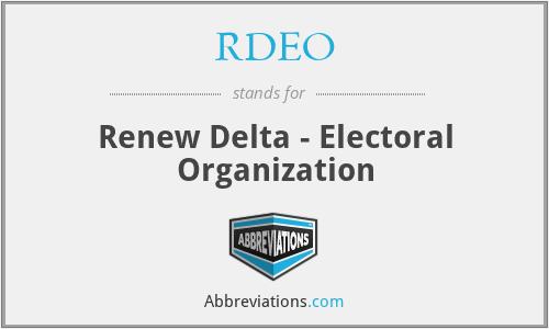 RDEO - Renew Delta - Electoral Organization