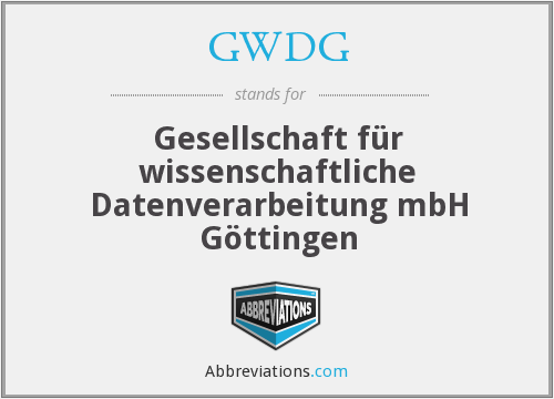 What does GWDG stand for?