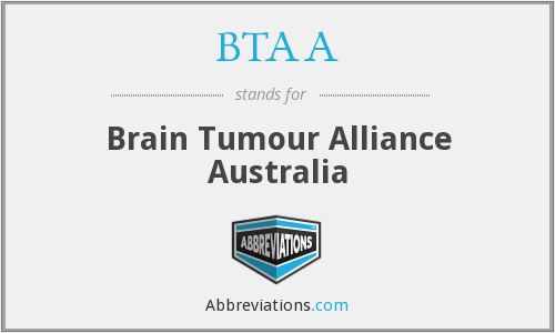 BTAA - Brain Tumour Alliance Australia