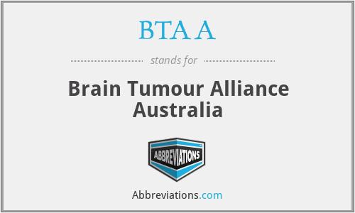 BTAA - Brain Tumour Alliance Australia