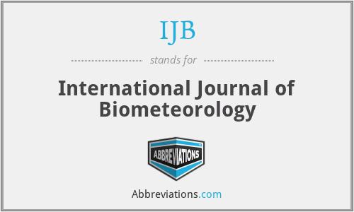 IJB - International Journal of Biometeorology