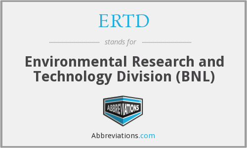 What does ERTD stand for?