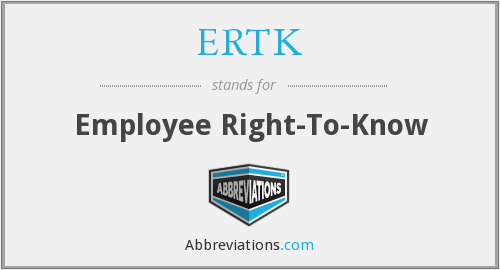 What does ERTK stand for?