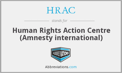 HRAC - Human Rights Action Centre (Amnesty international)