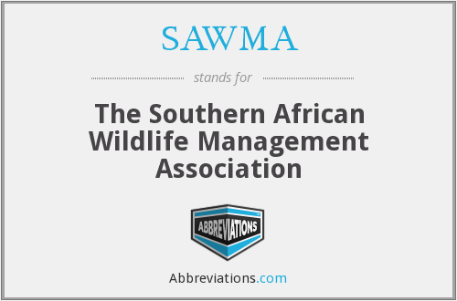 SAWMA - The Southern African Wildlife Management Association