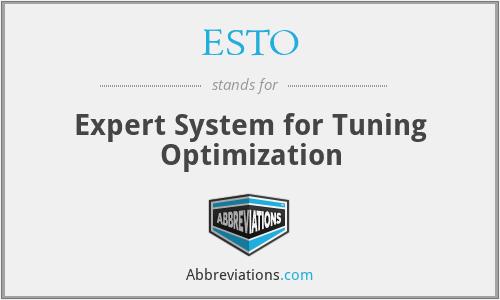 ESTO - Expert System for Tuning Optimization