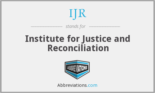 IJR - Institute for Justice and Reconciliation