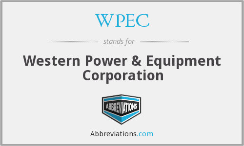 WPEC - Western Power & Equipment Corporation