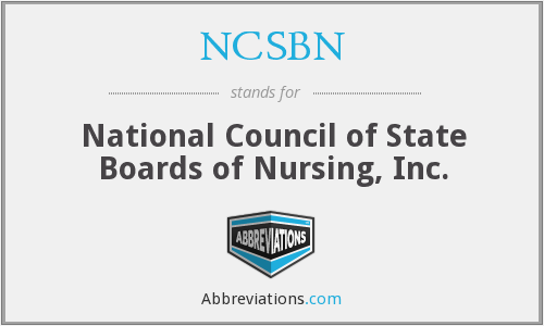 What does NCSBN stand for?