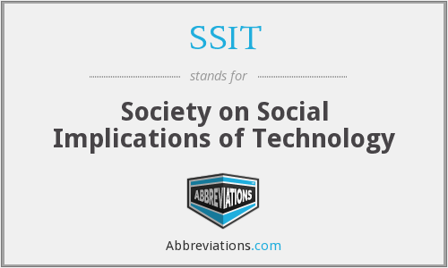 What does SSIT stand for?
