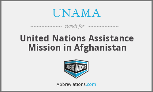 What does UNAMA stand for?