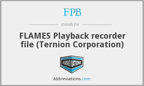 FPB - FLAMES Playback recorder file (Ternion Corporation)