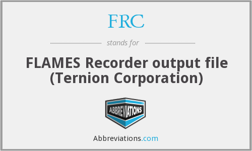 FRC - FLAMES Recorder output file (Ternion Corporation)