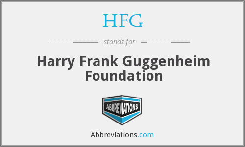 HFG - Harry Frank Guggenheim Foundation