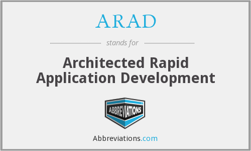 ARAD - Architected Rapid Application Development
