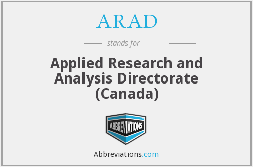 ARAD - Applied Research and Analysis Directorate (Canada)