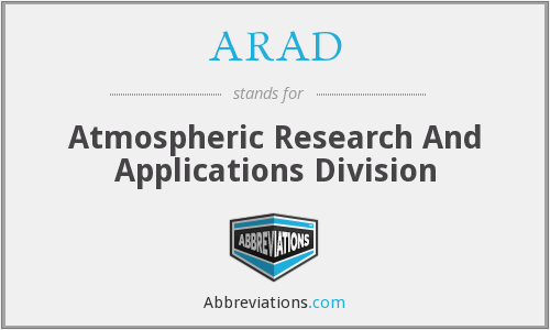 ARAD - Atmospheric Research And Applications Division