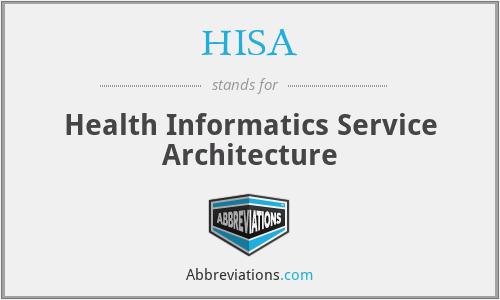 HISA - Health Informatics Service Architecture