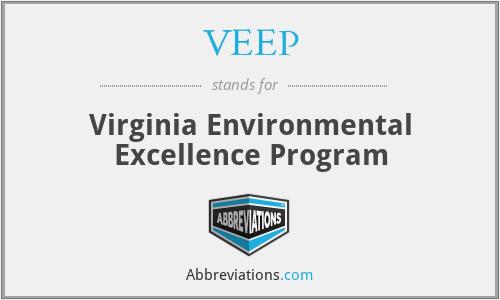 VEEP - Virginia Environmental Excellence Program
