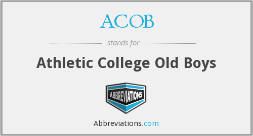 ACOB - Athletic College Old Boys