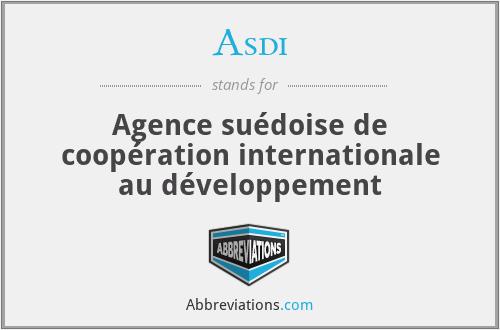 Asdi - Agence suédoise de coopération internationale au développement