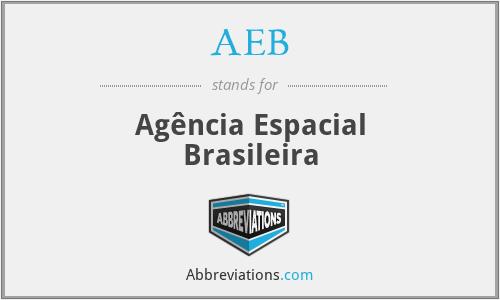 AEB - Agência Espacial Brasileira